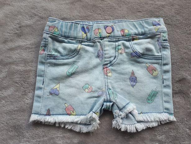 Krotkie Spodenki , szorty jeansowe Guess 3-6m kurtka, katana