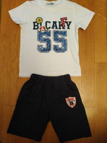 Детский летний костюм костюмчик футболка шорты для мальчика 4 - 5 лет
