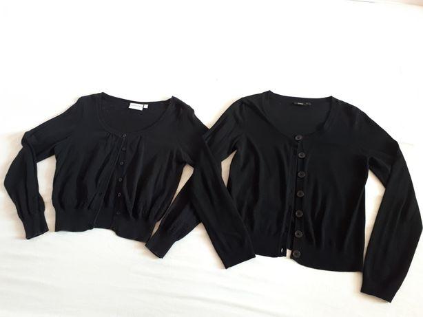 Sweterek koronka, czarny, rozpinany na guziki S i L