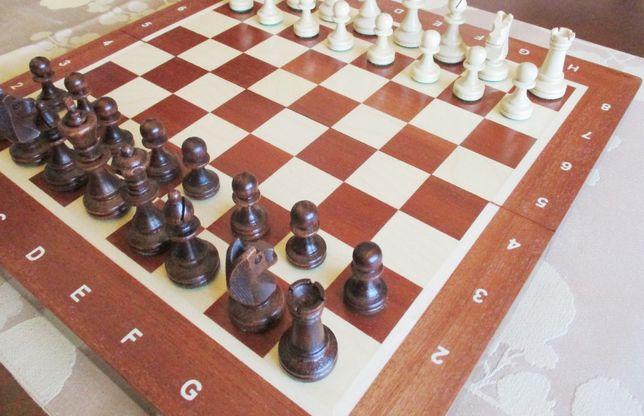 Em Madeira - Tabuleiro e peças jogo Xadrez