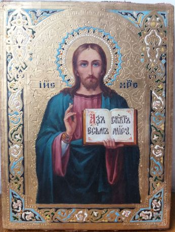 икона Господь Вседержитель 19 век