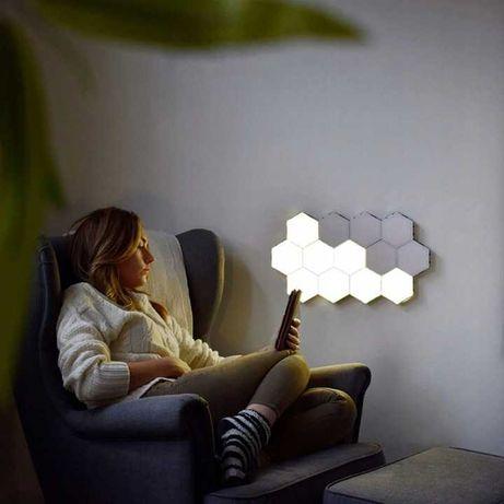Lampa Modułowa LED Dotykowa Ścienna 9szt. Barwa Ciepła