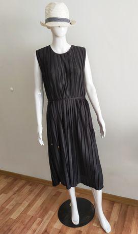 Nowa z metką, czarna sukienka plisowana MIDI, Tom&Rose
