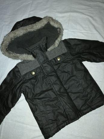 Куртка фирменная тёплая на осень зиму мальчику 6-9мес