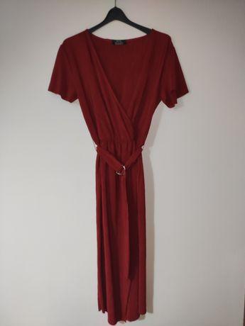 Vestido vermelho Bershka