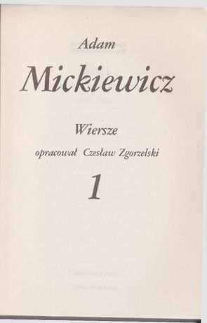 Adam Mickiewicz 3 tomy