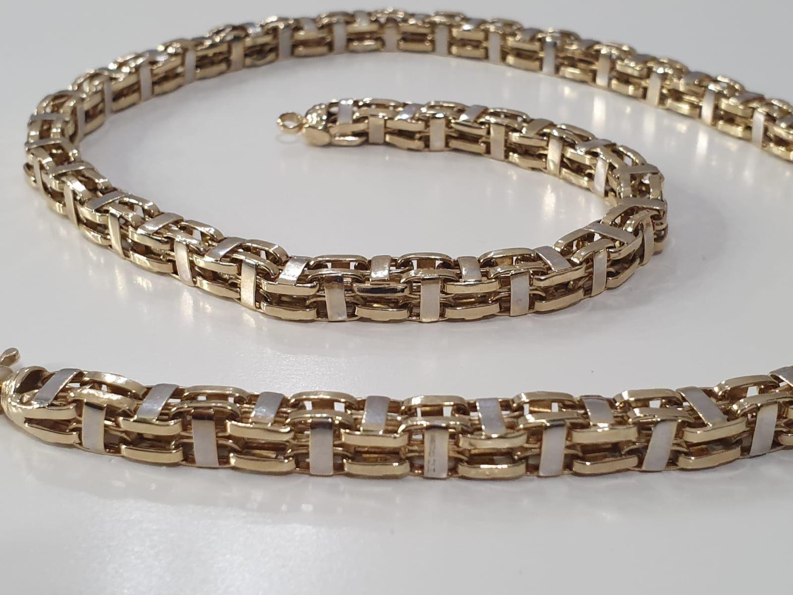 Sprzedam złoty łańcuch gruby męski próba 585 waga 35,65 g