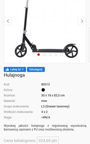 Nowa hulajnoga Big Steel Scooter do 100kg