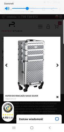 kufer kosmetyczny nowy mobilny Silver