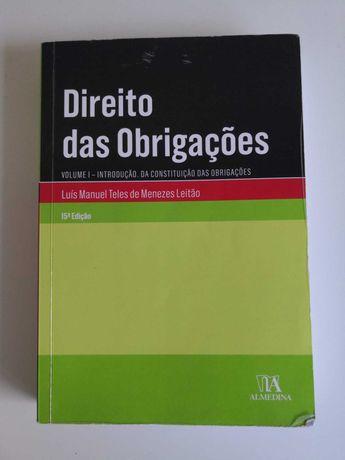 Direito das Obrigações, Vol I, Menezes Leitão