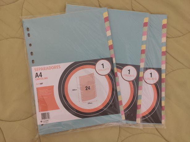 Separadores coloridos A4 | 3 packs