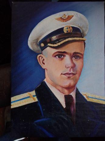 Продам портреты семьи летчика, на холсте, масло 1951 г.