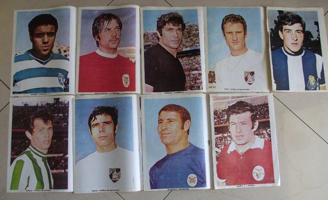 Cromos posters figuras do futebol do Jornal do Cuto