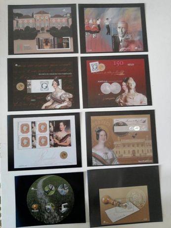 Lote de blocos selos de Portugal