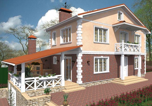 Дизайн фасада дома (дизайн-проект экстерьера).