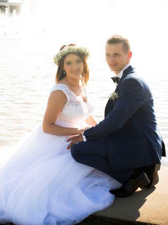 Suknia ślubna wyczyszczona