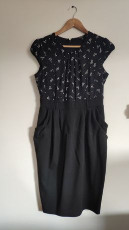Sukienka  biało czarna
