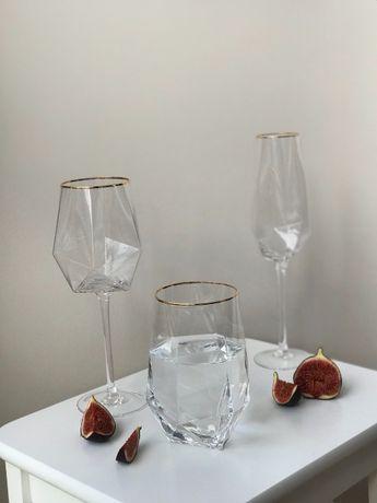 Келихи для вина шампанського, бокалы шампанского стакан диамант