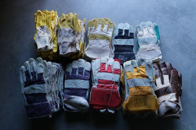 Rękawice robocze skórzane i nie tylko w różnych kolorach