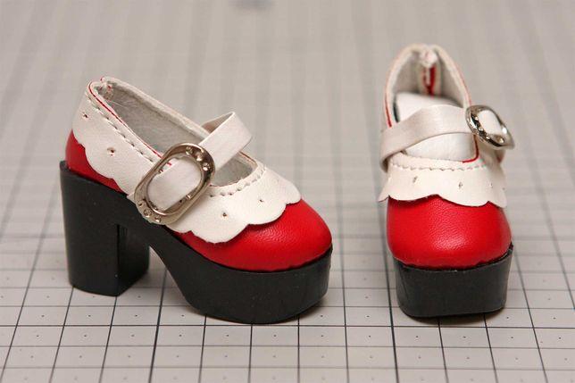 Buty dla lalki BJD 1/4 Minifee czerwone z białym
