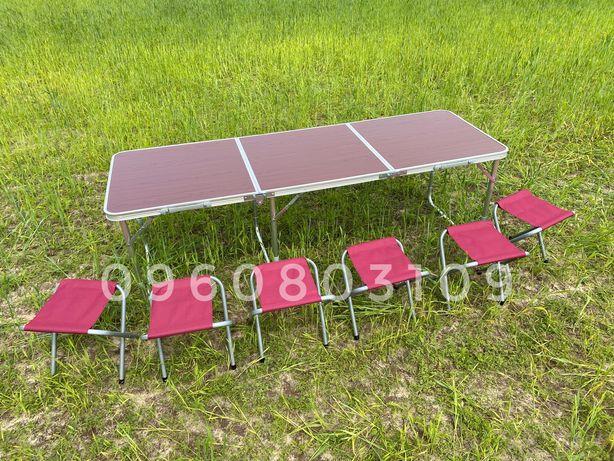 ЖМИ! Стол для пикника 1.8 м + 6 стульев раскладной. Стіл туристический