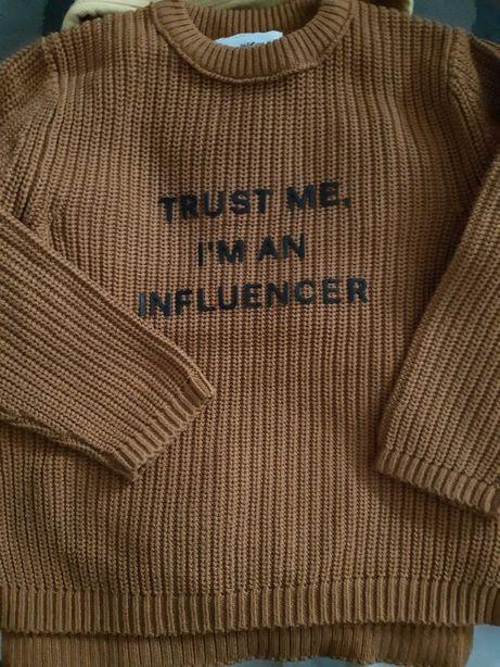 Sweter chłopięcy Zara, rozmiar 110.