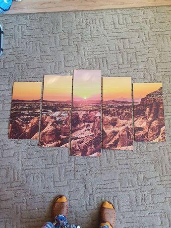 Obraz 5 części kanion sklejka