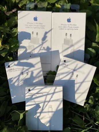 Быстрая Зарядка айфон Apple 18W/20W USB-C + кабель Type-C на Lighting
