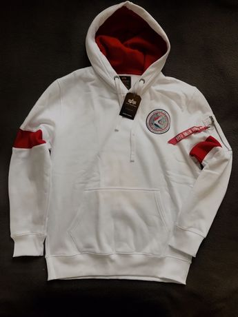 Alpha industires nasa apollo bluza meska hoodie white