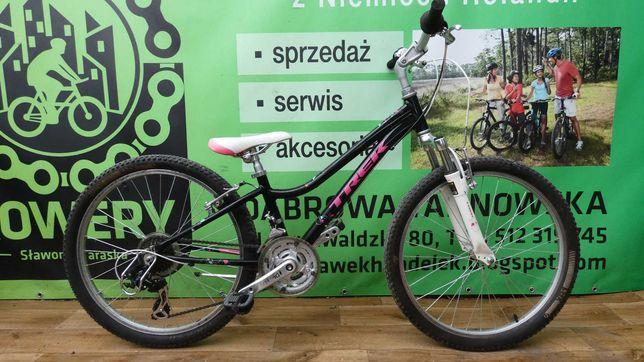 Rower TREK - koła 24, rama aluminiowa, Shimano, amortyzacja