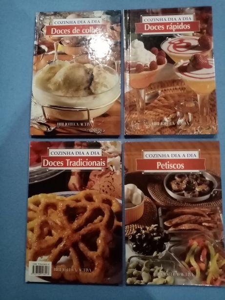 4 livros de DOCES