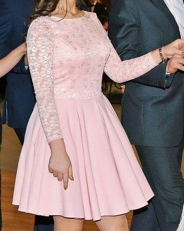 sukienka z długim rękawem koronkowa LOU