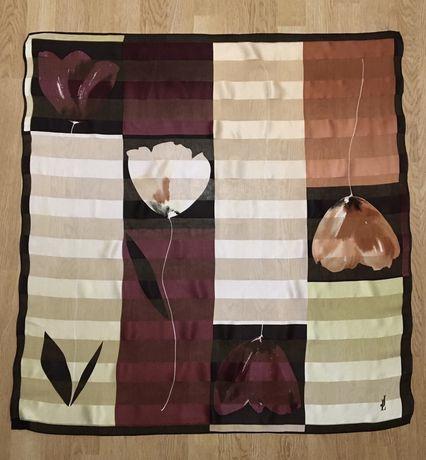 Лёгкий шёлковый платок шаль шарф палантин