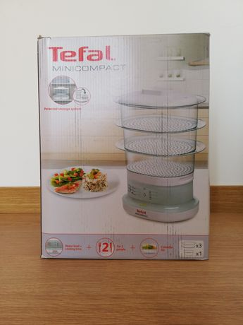 Tefal minicompact máquina de cozer com vapor