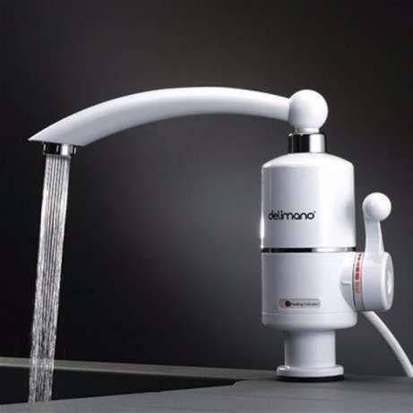 Змішувач з підігрівом кран водонагрівач Delimano електро кран нагрівач