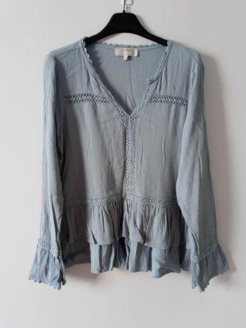 Niebieska bluzka falbanki Cream M/38