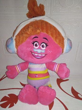 Мягкая игрушка, кукла куколка Диджей Dj Suki, Звуки, Зуки с Тролли
