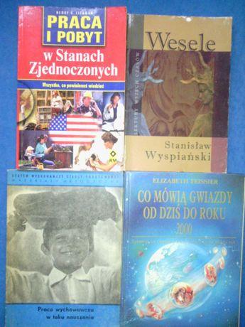 Książki różne,praca w Usa,Wesele,pedagogika...