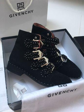38 Kozaki Givenchy zamszowe czarne botki skórzane prezent zamsz buty