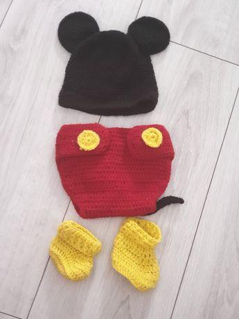 Ubranko na sesję noworodek mickey