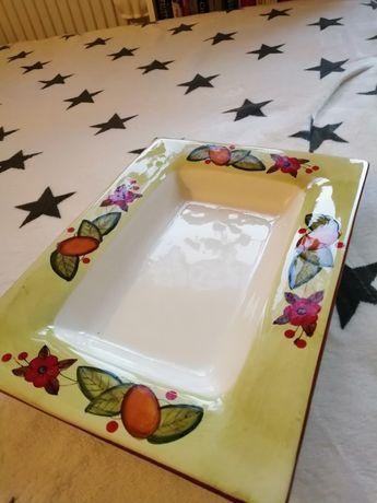 Półmisek ceramiczny ręcznie malowany
