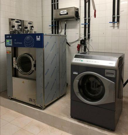 Máquina de lavar roupa industrial com desinfecção Covid-19 lares