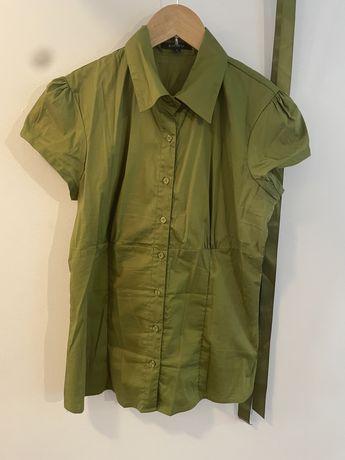 Zielona koszula rozpinana z krótkim rękawem AMISU 40 L 38 M