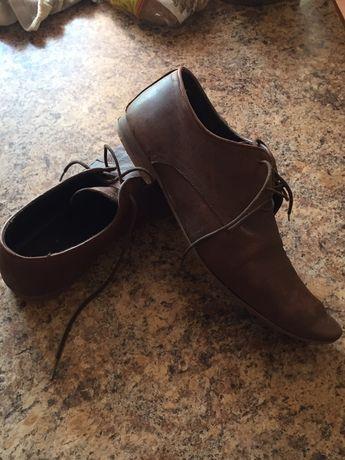 Туфли весна осень 45р-400₽ коричневые б/у в хорошем состоянии