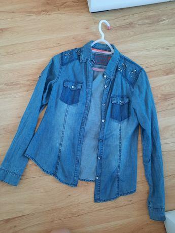 Jeansowa koszula damska S