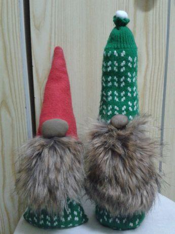 Skrzaty świąteczne / gnomy skandynawskie - zimowe ozdoby !!! KOLEKCJA