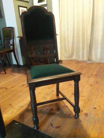 Krzesła IX/X w. zielone obicie (6 szt.)