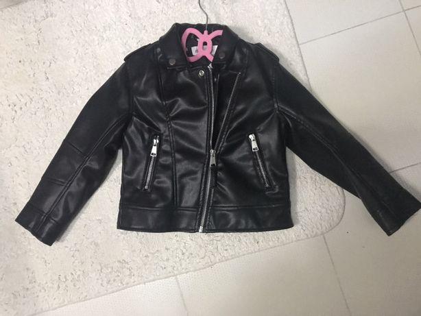Hm h&m ramoneska kurtka skórzana biker czarna 110 nowa