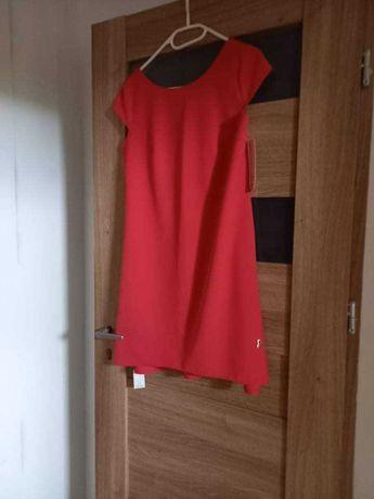 Sukienka symetryczna z dłuższym tyłem nowa z metką 36