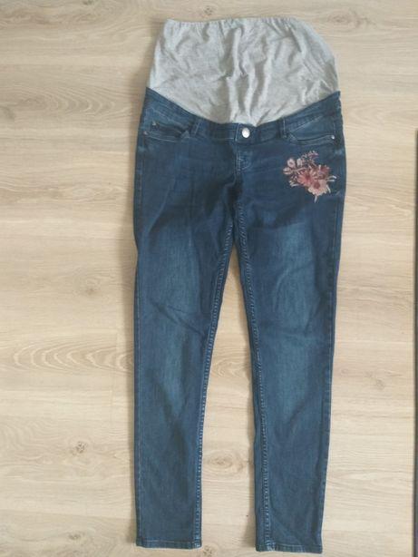 Spodnie ciążowe z pasem miękkie jeansy 40